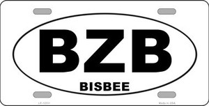 BZB Bisbee Arizona Wholesale Novelty Metal License Plate LP-12511