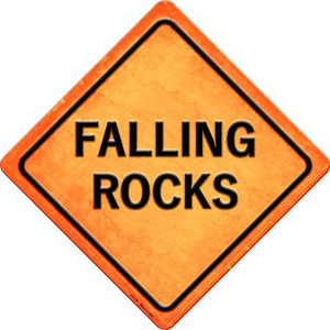 Falling Rocks Wholesale Novelty Metal Crossing Sign CX-376