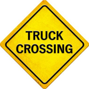 Truck Crossing Wholesale Novelty Metal Crossing Sign CX-430