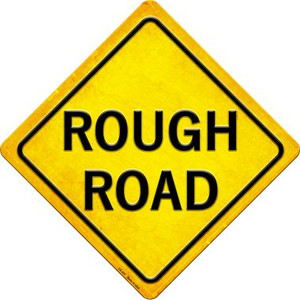 Rough Road Wholesale Novelty Metal Crossing Sign CX-435
