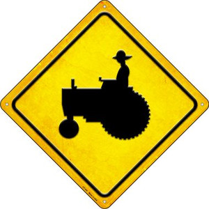 Tractor Crossing Wholesale Novelty Metal Crossing Sign CX-445