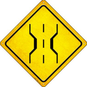 1 Lane Bridge Wholesale Novelty Metal Crossing Sign