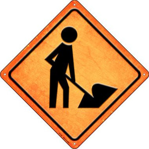 Digger Ahead Wholesale Novelty Metal Crossing Sign