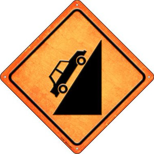 Steep Hill Ahead Wholesale Novelty Metal Crossing Sign CX-504