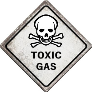 Toxic Gas Skull Wholesale Novelty Metal Crossing Sign
