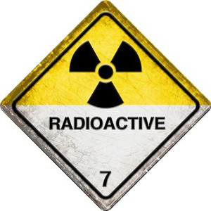 Radioactive 7 Small Wholesale Novelty Metal Crossing Sign