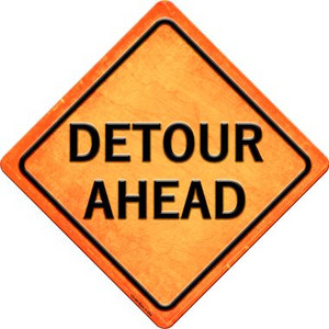 Detour Ahead Wholesale Novelty Metal Crossing Sign CX-586