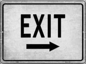 Exit Right Wholesale Novelty Metal Parking Sign P-2653