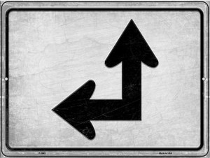 Left and Up Arrow Wholesale Novelty Metal Parking Sign P-2663