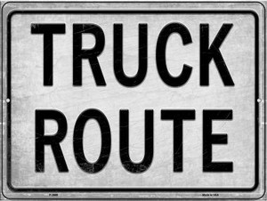 Truck Route Wholesale Novelty Metal Parking Sign P-2669