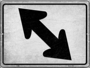 Diagonal Left and Right Wholesale Novelty Metal Parking Sign P-2682