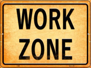 Work Zone Wholesale Novelty Metal Parking Sign P-2699
