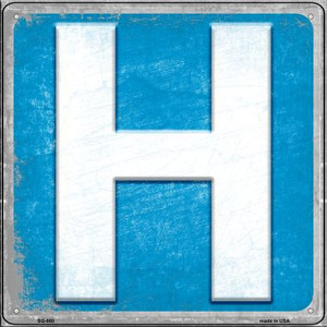 Hospital Wholesale Novelty Metal Square Sign SQ-880
