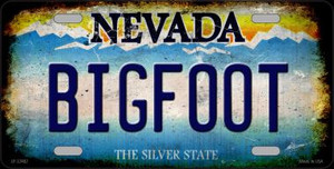 Bigfoot Nevada Wholesale Novelty Metal License Plate LP-12482