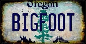 Bigfoot Oregon Wholesale Novelty Metal License Plate LP-12484