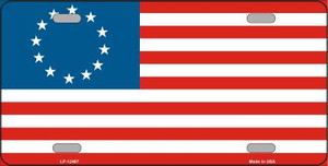 Betsy Ross American Flag Wholesale Novelty Metal License Plate LP-12487