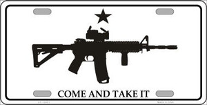 Come and Take It Wholesale Novelty Metal License Plate LP-12491