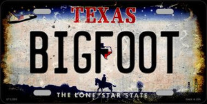 Bigfoot Texas Wholesale Novelty Metal License Plate LP-12493
