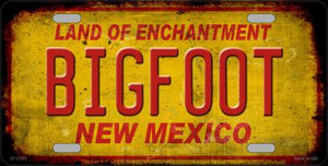 Bigfoot New Mexico Wholesale Novelty Metal License Plate LP-12495