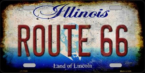 Route 66 Illinois Wholesale Novelty Metal License Plate LP-12505