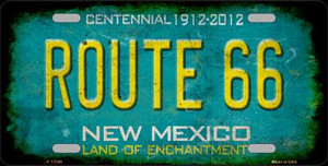 Route 66 New Mexico Wholesale Novelty Metal License Plate LP-12508