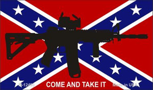 Come and Take It Confederate Flag Wholesale Novelty Metal Magnet M-12490