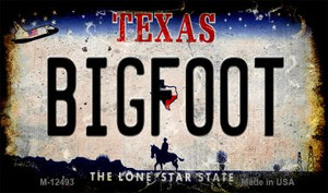 Bigfoot Texas Wholesale Novelty Metal Magnet M-12493