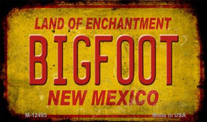 Bigfoot New Mexico Wholesale Novelty Metal Magnet M-12495