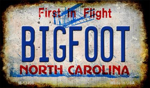 Bigfoot North Carolina Wholesale Novelty Metal Magnet M-12496