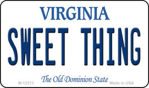 Sweet Thing Virginia Wholesale Novelty Metal Magnet M-12513