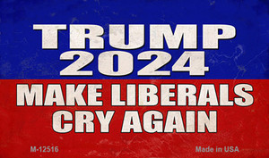 Trump Make Liberals Cry Again Wholesale Novelty Metal Magnet M-12516