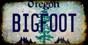 Bigfoot Oregon Wholesale Novelty Metal Bicycle Plate BP-12484