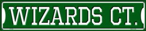 Wizards Ct Wholesale Novelty Metal Street Sign ST-1035