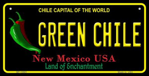 Green Chile New Mexico Black Wholesale Novelty Metal Bicycle Plate BP-12501