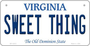 Sweet Thing Virginia Wholesale Novelty Metal Bicycle Plate BP-12513