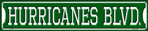 Hurricanes Blvd Wholesale Novelty Metal Street Sign ST-1038