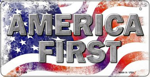 America First Wholesale Novelty Metal Bicycle Plate BP-12520