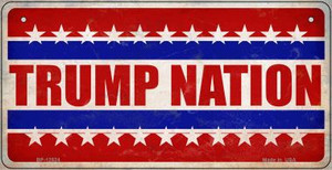Trump Nation Wholesale Novelty Metal Bicycle Plate BP-12524