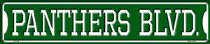 Panthers Blvd Wholesale Novelty Metal Street Sign ST-1039
