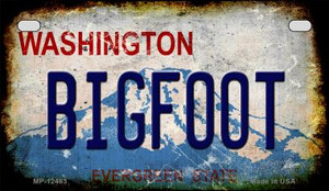 Bigfoot Washington Wholesale Novelty Metal Motorcycle Plate MP-12483