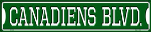 Canadiens Blvd Wholesale Novelty Metal Street Sign ST-1040