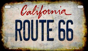 Route 66 California Wholesale Novelty Metal Motorcycle Plate MP-12504
