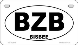 BZB Bisbee Wholesale Novelty Metal Motorcycle Plate MP-12511