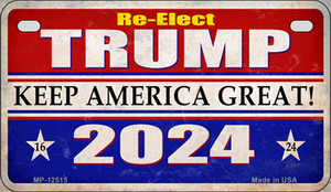 Re-Elect Trump 20240 Wholesale Novelty Metal Motorcycle Plate MP-12515