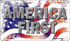 America First Wholesale Novelty Metal Motorcycle Plate MP-12520