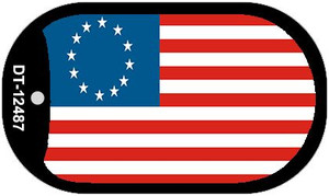 Betsy Ross American Flag Wholesale Novelty Metal Dog Tag Necklace DT-12487