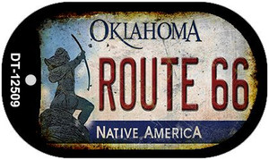 Route 66 Oklahoma Wholesale Novelty Metal Dog Tag Necklace DT-12509