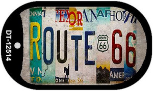 Route 66 Strip Wholesale Novelty Metal Dog Tag Necklace DT-12514