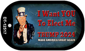 I Want You to Elect Me Trump 2024 Wholesale Novelty Metal Dog Tag Necklace DT-12517