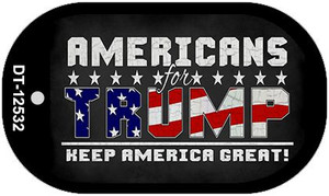 Americans For Trump Wholesale Novelty Metal Dog Tag Necklace DT-12532